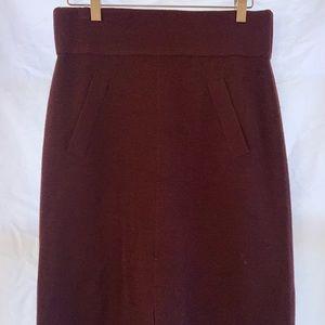 Club Monaco Cranberry Wool Skirt
